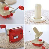 Handbetriebene Strickrolle String Garn Faser Wolle Faden Ball Winder Halter LP