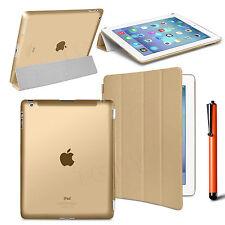 Slim Flip Magnetic Leather Smart Cover Hard Back Case For Apple iPad 4 3 2 Gen