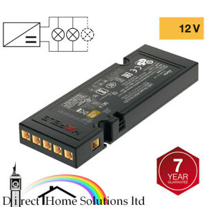 Hafele Loox 12V LED Driver IP20 with 6 Way Constant Voltage / Without Mains Lead