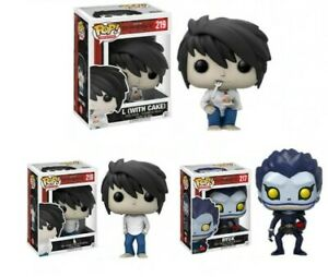FUNKO POP!  Anime Death Note Ryuk 217 & L 219 Vinyl Figure Doll Toys Collection