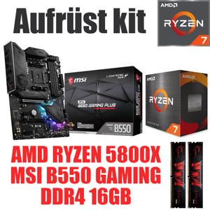 AMD Ryzen 7 5800X ● MSI B550 Mainboard ● 16GB RAM ● PC Gaming Bundle Set Kit