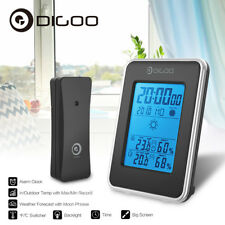 Digoo In&Outdoor Weather Station Hygrometer Thermometer Forecast Sensor Clock