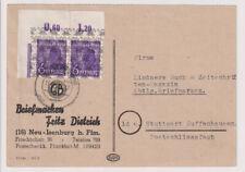 Bizone/Band-Netzaufdruck,Mi. 37II P OR ndgz/Eckr.Paar (Mi. 800,00) Neu-Isenburg