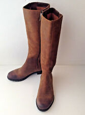 ROCKPORT Brown Leather Boots Riding  Nubuck Hydro-Shield Waterproof Womens 5M