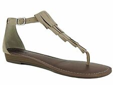 Carlos by Carlos Santana Women's Trinidad Demi Wedge Sandals Sand Beige 8.5 M