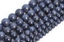 Genuine Natural Myanmar Sapphire Beads Grade AAA Round Loose Beads 4-5/6/8-9MM