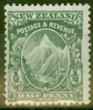 New Zealand 1907 1/2d Green SG377 Fine Mtd Mint