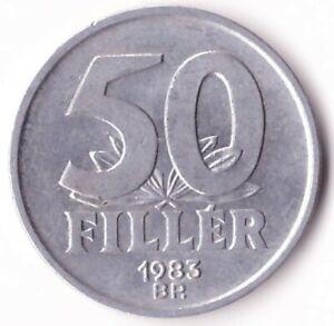 50 Filler 1983 Hungary Coin KM#574 - Elisabeth Bridge in Budapest