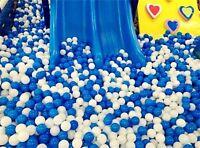 10X White Blue Ball Soft Plastic Ocean Ball Funny Baby Kid Swim Pit Toy 7cm    J