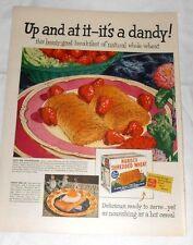 1947 Life Magazine Advertisement Nabisco Shredded Wheat & Vitalis Hair Product
