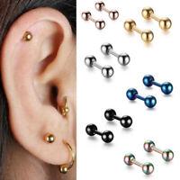 Cartilage Upper Ear Stud Tragus Helix Bar Top Ear Ring Piercing For Girl LT