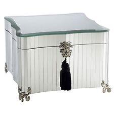 Glamor Classic Mirrored Jewelery Box Handmade  Storage Organizer w Black Felt