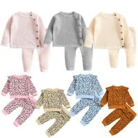 Infant Baby Boys Girls Outfits Long Sleeves Tops + Pants Leggings Clothes Winter