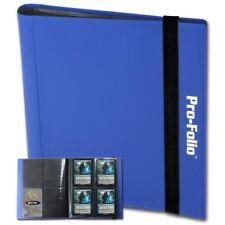 BCW BLUE Pro-Folio Binder Album 4 Pocket Side Load Storage holds 160 Cards