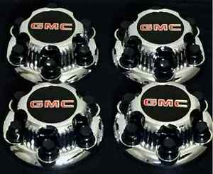 "GMC SIERRA YUKON SAVANA 6 LUGS 1500 CHROME CENTER CAP HUB 16"" 17"" WHEEL 4 x PCs"