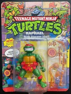 TMNT Raphael with Storage Shell; 1991 Unpunched