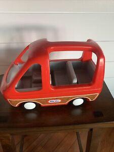 Little Tikes Vintage Dollhouse Doll Car Van Red Vehicle Minivan