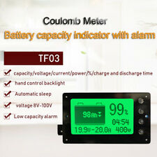 50A 100A 350A 500A coulomb meter Battery Monitor  Remaining Capacity Lead-acid