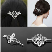 Long Hair Slide Clip Bun Holder Hairpin Dress Stick Shawl Pin Hair Styling Tool