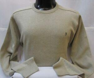 Farah New Men's Regular Fit Cotton Crew Neck Jumper Sweater Tops,Colours