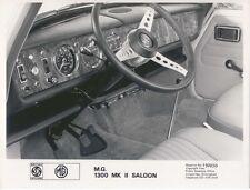 MG 1300 Mk II LHD interior & dashboard original b&w Press Photo No.192030