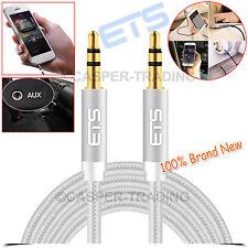 ETS® 1.5M 3.5mm Jack Male Plug To Plug Audio AUX Cable Headphone Speakers Lead