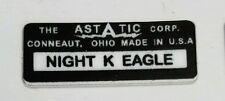 ASTATIC D-104 NIGHT K  EAGLE MICROPHONE LABEL FOR RESTORATION.