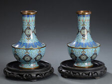 18/19th PAIR ANTIQUE CHINESE CLOISONNE VASE QING DYNASTY