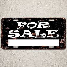 LP0058 For Sale Sign Rust Vintage Auto Car License Plate Home Decor