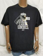 SAN ANTONIO SPURS NBA BASKETBALL / MANU GINOBILI 20 REEBOK T-SHIRT BLACK 2XL