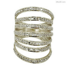 Special Listing !!! Handmade Diamond Pave 14K Solid White Gold Cage Ring Jewelry