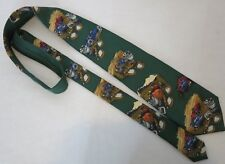Mens Faconnable 100% Silk Tie Antique Race Cars Trophies Hand Made in France NWT