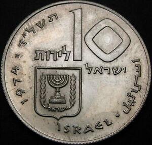ISRAEL 10 Lirot 1974 Proof - Silver - Pidyon Haben - 2619 ¤
