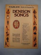 Fables Nothin But Dog Gone Lies Sheet Music Vintage 1923 Jeff Branen Voice (O)