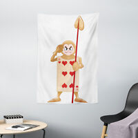 Cartoon Tapestry Playing Card Print Wall Hanging Decor