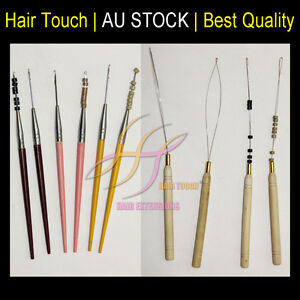 Pulling Needle Tool For Applying I Tip Hair Extensions Hook or Steel Wire