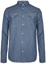 "**BRAND NEW - ""ALLSAINTS"" MEN'S LIGHT BLUE ""BRONSON"" Shirt - Size ""XL"" w TAGS!!"