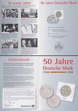 Jahresgabe 1998 der Dt.Postphilaletie mit Marke MiNr.1996 50Jahre Deutsche Mark