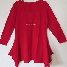 BORIS INDUSTRIES Lagenlook Zipfel Tunika Long Shirt rot 48-50 (5)