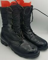 Men's RO Search Black Leather Canvas Combat Work Spike Protective Boot Size 9W
