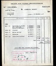 """SAINT-DIE (88) USINE / TISSAGE sur PAPIER HELIOGRAPHIQUE """"M. ROUSSEL"""" en 1953"""
