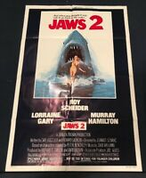 """Jaws 2 1978 ORIGINAL One Sheet 27x41"""" Movie Poster Folded Roy Scheider P1 Real"""