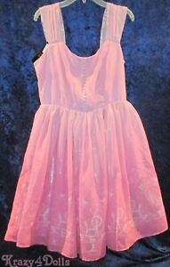 Disney Her Universe Sleeping Beauty Aurora Princess Cold Shoulder Dress Size XL