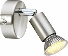 Globo Matrix Spot Nickel-mat 1xgu10 LED 3000k Luminaire Lampe Glo57991-1