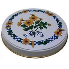Herdabdeckplatten 4 er Herdplatten Herd Motiv Sonnenblume Blume gelb weiß blau