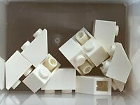 Lego 50 New White Slope Inverted 45 2 x 1 Sloped Pieces