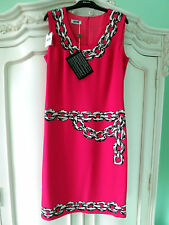 NWT MOSCHINO Chain Print Designer Dress It.42-UK10 Wedding Christmas Gift £230