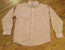 Bella Bliss boys plaid button down long sleeve shirt size 8