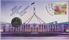 **2013 Australian 25th Anniversary of Parliament House 20c coin PNC **