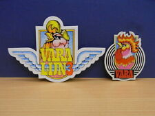 2x Sticker - decal VARA TV / Radio with org.back 80's (02264)